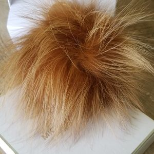 NWT - Michael Kors Large Fur Pom Pom Natural
